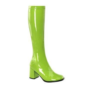 Retro Boots GOGO-300 - Patent lime