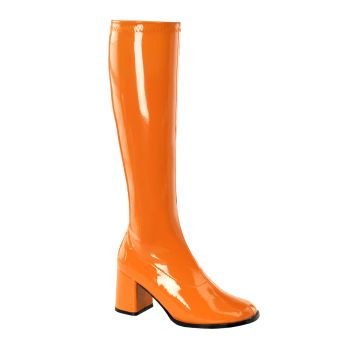 Retro Boots GOGO-300 - Patent orange