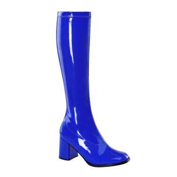 Retro Boots GOGO-300 - Patent blue