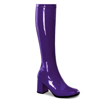 Retro Boots GOGO-300 - Patent purple