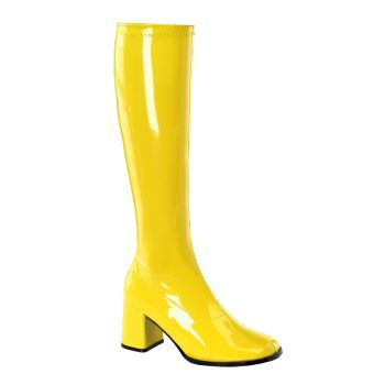 Retro Boots GOGO-300 - Patent yellow