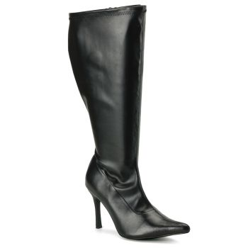 Knee Boot LUST-2000X (Wide Shaft) - PU black