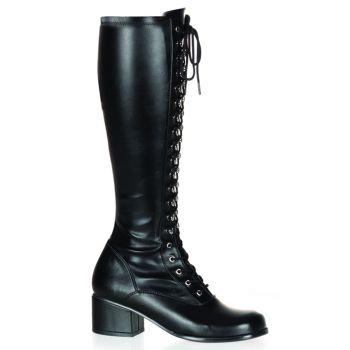 Retro Knee Boot RETRO-302 - PU black