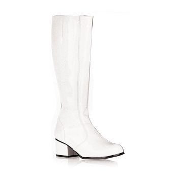 Retro Knee Boot GOGO - Patent white