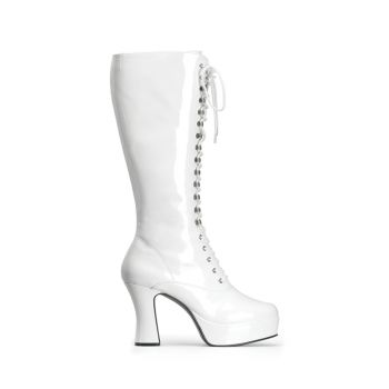 Knee Boot EXOTICA-2020 - Patent White