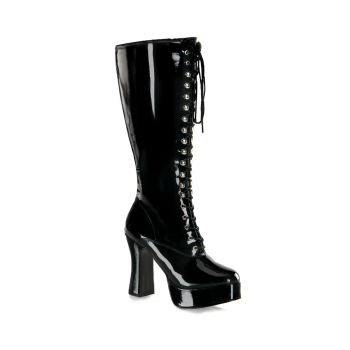 Knee Boot EXOTICA-2020X (Wide Shaft) - Patent Black