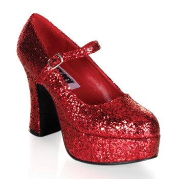 Retro Platform Pumps MARYJANE-50G - Red