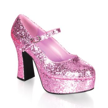 Retro Platform Pumps MARYJANE-50G - Pink