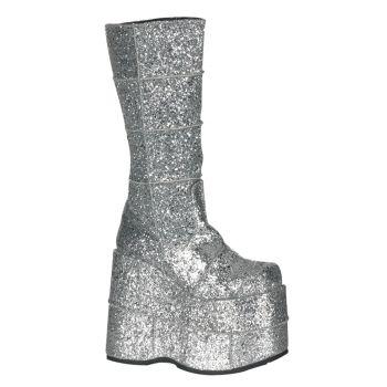 Platform Boots STACK-301G - Glitter Silver