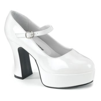Platform Pumps MARYJANE-50X (Wide) - Patent White