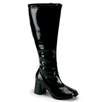 Retro Boots GOGO-300X (Wide Shaft) - Patent Black
