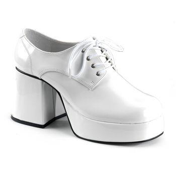 Men Platform Shoes JAZZ-02 - Patent White