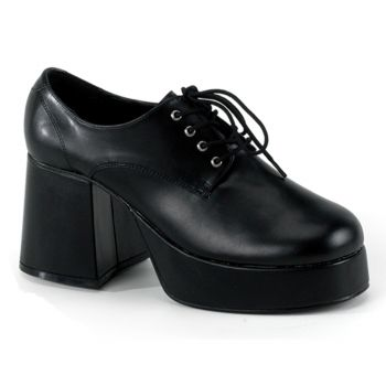 Men Platform Shoes JAZZ-02 - PU Black