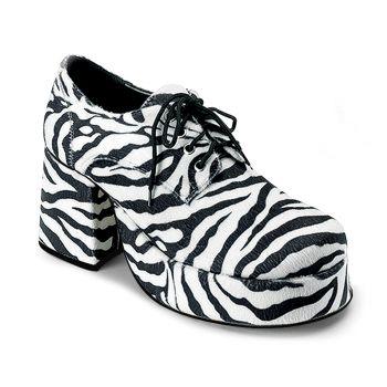 Men Platform Shoes JAZZ-02 - Zebra