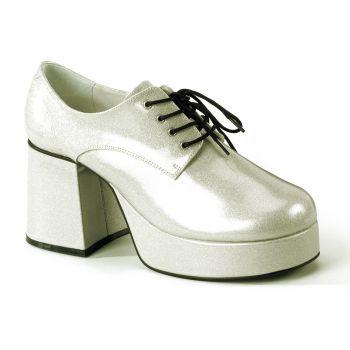 Men Platform Shoes JAZZ-02G - Glitter Silver