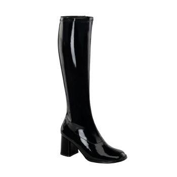 Retro Boots GOGO-300 - Patent black