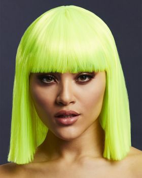 Medium-Length Bob Wig LOLA - Neon Lime*