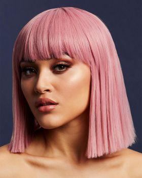 Medium-Length Bob Wig LOLA - Ash Pink*