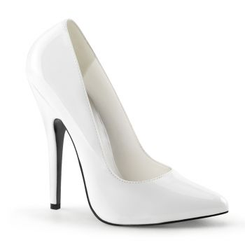 Extreme High Heels DOMINA-420 : Patent White*