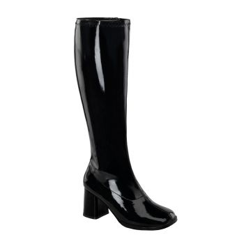 Retro Boots GOGO-300WC (Wide Shaft) - Patent Black