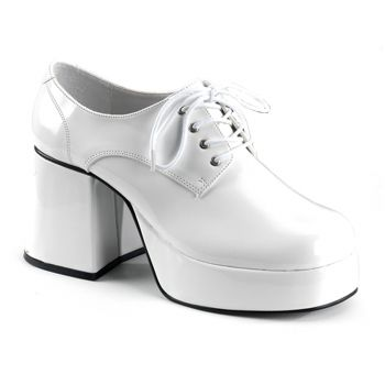 Men Platform Shoes JAZZ-02 : Patent White*