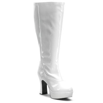 Retro Platform Boots EXOTICA-2000X (Wide Shaft) : White*