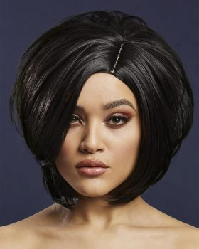 Asymmetric Bob Wig SAVANNA - Black