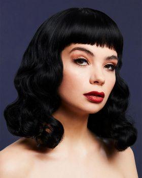 Shoulder-Length 50s Wig BETTIE - Black*