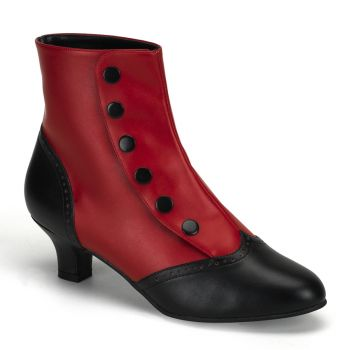 Ankle Boot FLORA-1023 - Black/Red