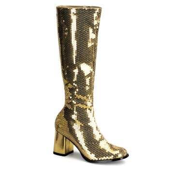 Knee Boot SPECTACUL-300SQ - Gold