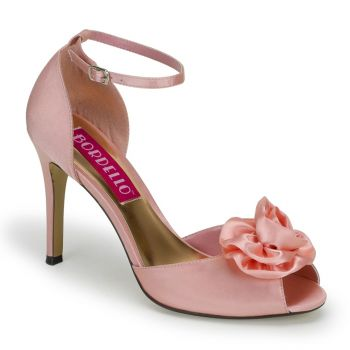D'Orsay Peep Toes ROSA-02 - Baby Pink
