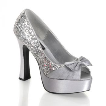 Platform pumps PARTY-42 : Silver*