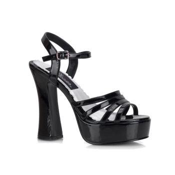 Platform high-heeled sandal DOLLY-25 - Patent Black