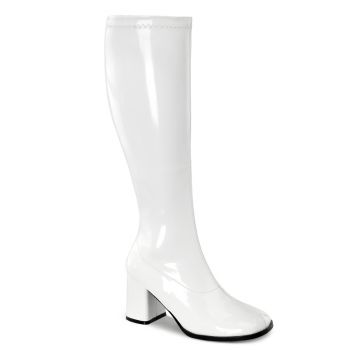 Retro Boots GOGO-300WC - Patent White