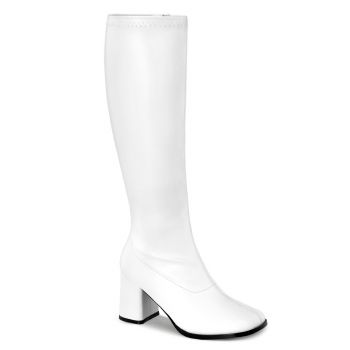 Retro Boots GOGO-300WC - PU White