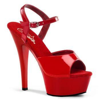 Platform High Heels KISS-209 - Patent Red