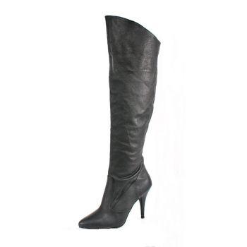 Knee Boot VANITY-2013 - Leather Black