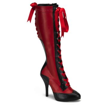 Knee Boots TEMPT-126 - Red/Black