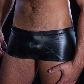 Wetlook boxer shorts STAN - Black