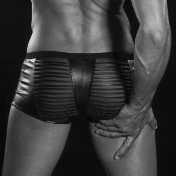 Wetlook Mesh Boxer Shorts NOAH - Black*