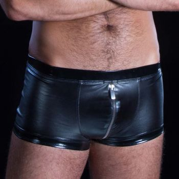 Wetlook boxer shorts RAYAN - Black