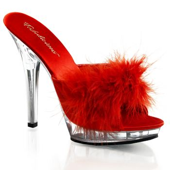 Slipper LIP-101-8 - Red/Clear