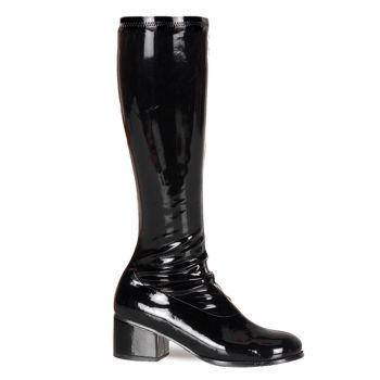 Retro Knee Boot RETRO-300 : Patent black*