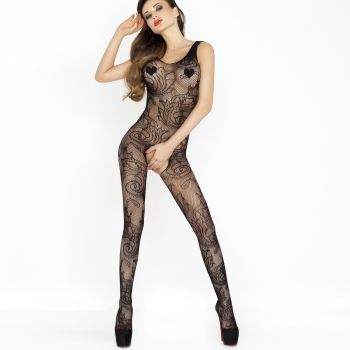 Fishnet Bodystocking Crotchless BS020 - Black*
