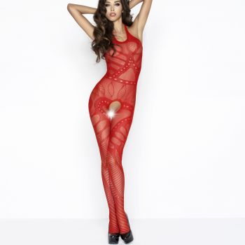 Neckholder Bodystocking BS037 - Red*