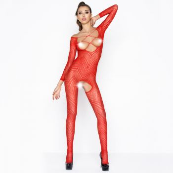 Cupless Bodystocking Ouvert BS040 - Red*