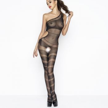 One Shoulder Bodystocking BS041 - Black*