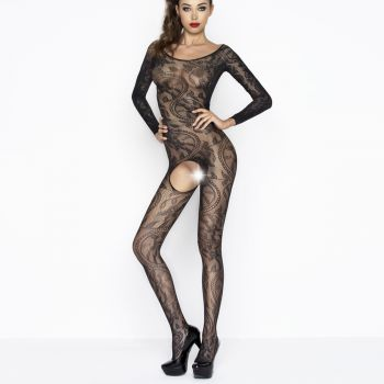 Bodystocking Crotchless BS042 - Black*