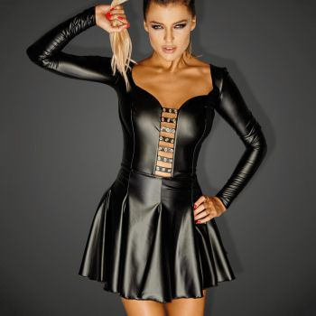 Wetlook Mini Dress EGOIST- Black