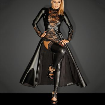 Powerwetlook Coat DIVALICIOUS GOWN*